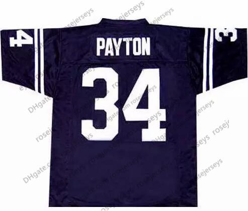 JSU #34 Walter Payton Navy Blue