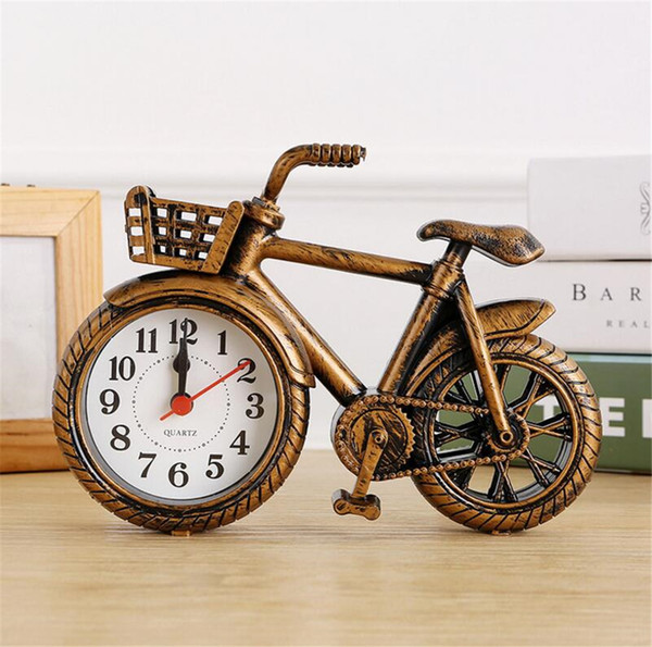 NEW Fashion Stylish Bike Shape Alarm Clock for Children Kids Bicycle Alarm Clock Home Art Decoration Best Gift A2203c