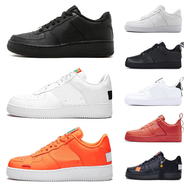 Dunk Mens Low Cut High one 1 Basketball shoes Classic White Black Utility Red Womens Just Orange AF fly Trainers knit designer Sneakers