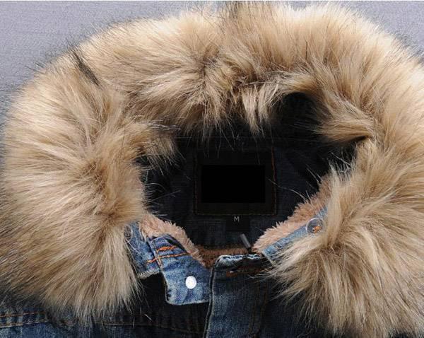 Wholesale- 2019 newest Wholesale Winter Denim Jackets for men , Male Fur Collar Plus Thick Velvet Jeans Outwear Coat roupas masculinas S366