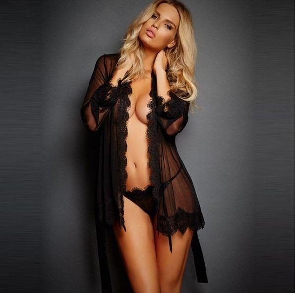 Параграф Вкус нижнего белья Сексуальный черный с открытой грудной повязкой 8 цветных пижам A19