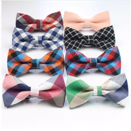 2019 neue Männer Fliege Plaid Stil Baumwolle Bowtie Casual Gravata Borboleta Schmetterling Tartan Streifen Bunte Krawatten