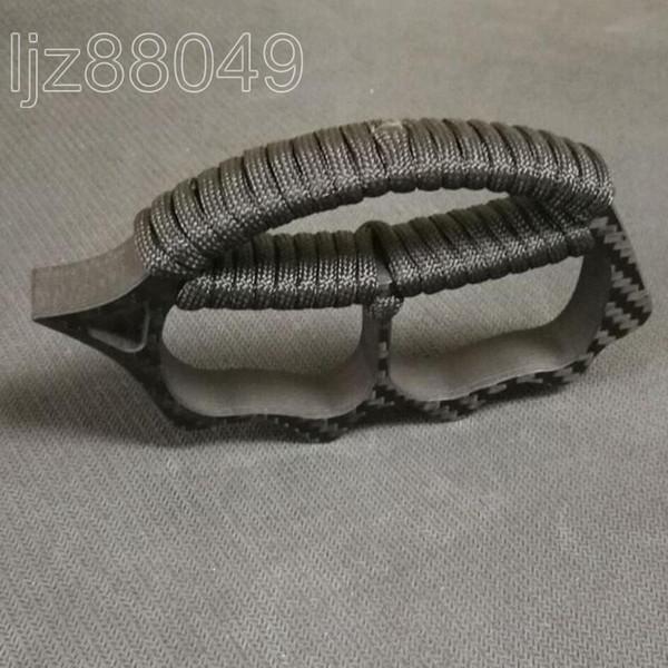 Fibra de carbono CF EDC Ultraligero Defensa al aire libre portátil Completo palma Knuckles Peces espina Guardián Supervivencia Dedo Roto Ventana Herramientas
