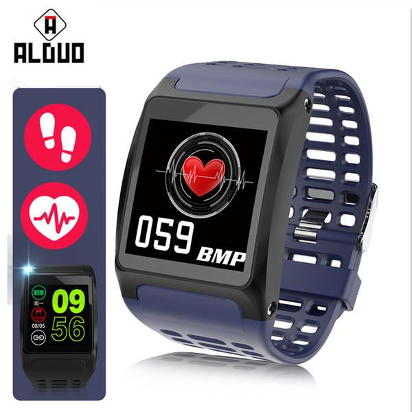 ALANGDUO Z01 Smart Wristwatch OLED Screen Watch Big Dials Heart Rate Monitor Fitness Tracker Waterproof Wristband Smart Bracelet