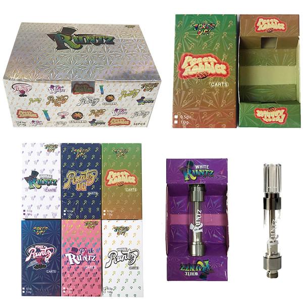 Bromas UP Runtz Vape cartucho de 0,8 ml 1 ml vacío Vape cartuchos de embalaje 510 Rosca E cigarrillos vidrio grueso de aceite del atomizador del tanque de vaporización