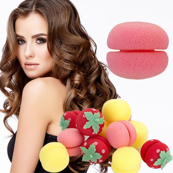 top popular 6pcs set Curl Balls Set Hair Curler Styling Tools Mousse Hair Rollers Foam Sponge Styling Tool Hairdressing Accessories Kits RRA2065 2019
