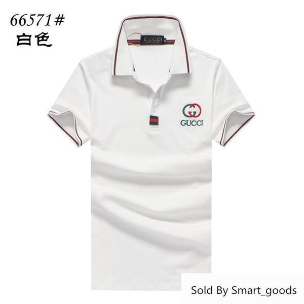 Erkek Marka Polos Bahar Basit Pamuk Rahat Günlük Yaka Erkekler Polo Gömlek