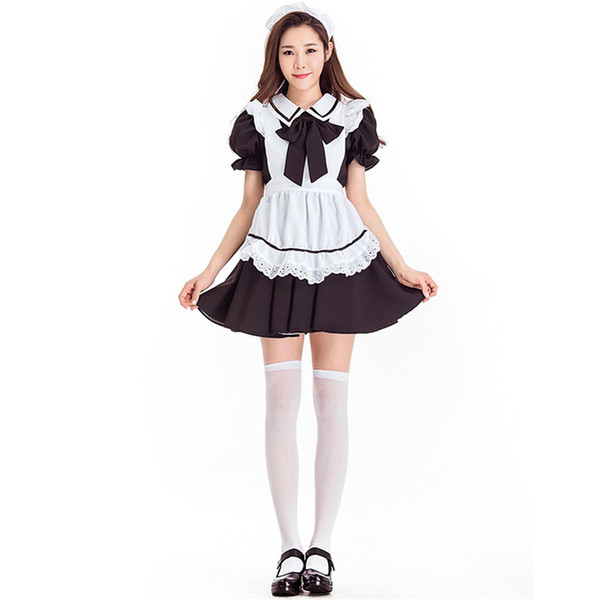 Female Halloween Alice in Wonderland costume for Women Waitress Maid Cosplay Carnival Purim Masquerade Nightclub Bar party dress