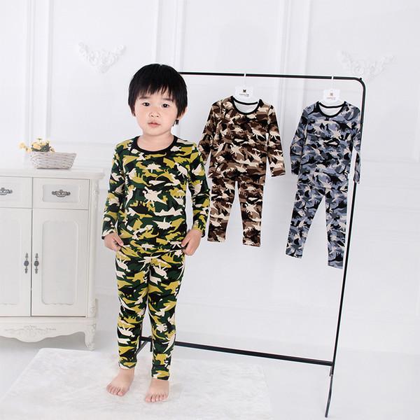 Kids Pajamas Set Dinosaur Boys Sleepwear cute Girls pyjamas Set Children's Home pajamas Baby Girl/Boy Clothing Set LJJK1865