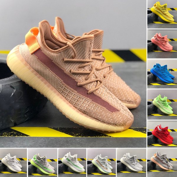 With box v2 static clay sesame True Form Hyperspace mens and womens running shoes Kanye West Beluga 2.0 Orange Bred sneakers vncfq