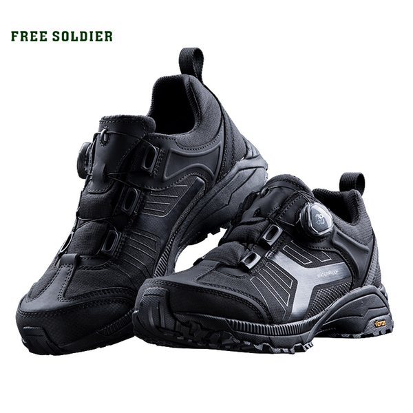 FREE SOLDIER outdoor Low Army Fan Tactical Boots Male Outdoor Non-slip Waterproof Breathable Mountain Hiking Shoes #45038