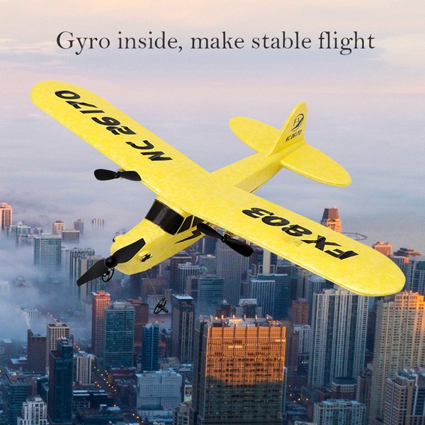 RC Airplane Plane 20 Minutes Fligt Time Gliders 2.4G Flying Model Hand Throwing Wingspan Foam Plan Toys Kids Gifts FX803