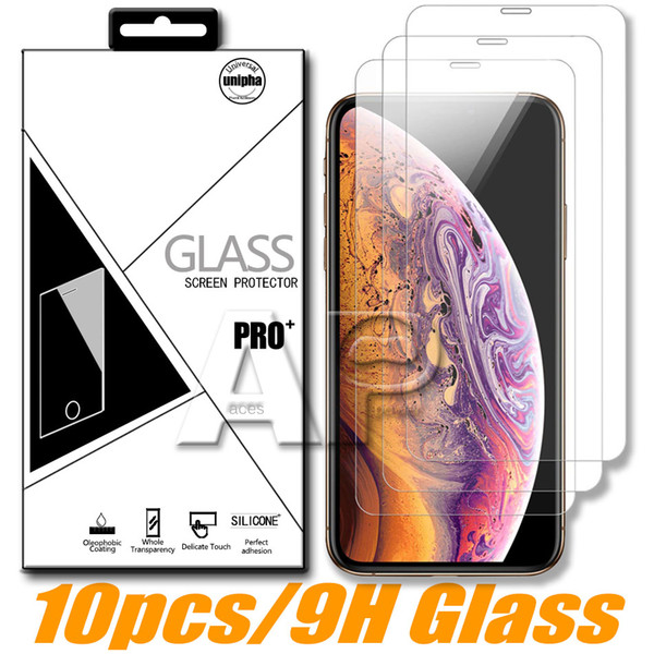 Protetor de tela para Iphone 11 Pro XR X XS Max Huawei P20 Pro Google Pixel 4 LG vidro temperado com pacote