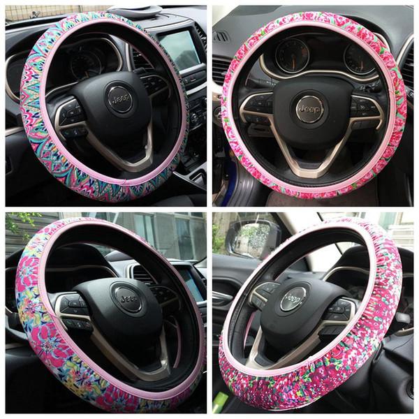 Envoltura auto aislada auto del coche de la absorción anti del resbalón y de sudor del neopreno del diseño floral