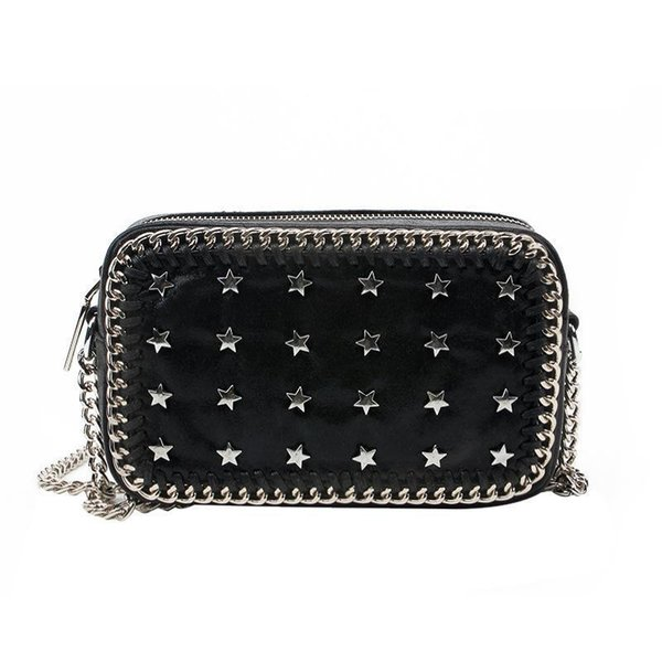 Chic Vintage Rivet Leather Handbags Small Stars Chain Women Shoulder Messenger Bags Famous Brands For Nice Bolsas Feminina Sac