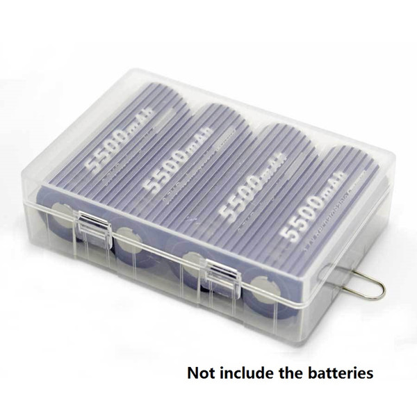Home Organization box 26650 Battery cell Case Holder for 4 X 26650 batteries with hook Plastic Cover 26650 battery storage boxes Organizer