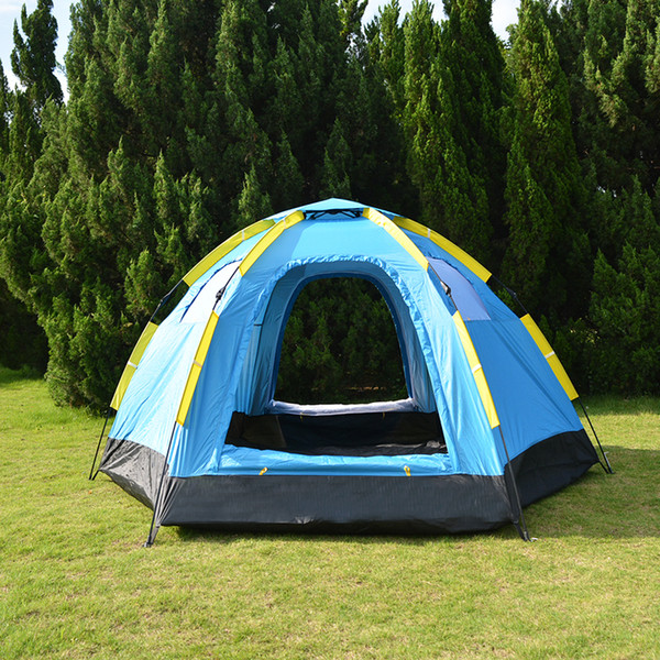 3-5 Person Automatic Big Camping Tent with 2 Door 4 Window Anti-UV Mongolian Yurt Tent Big Space Tourist 305x264x145cm