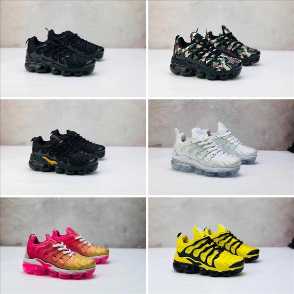 2018 Cheap TN Running Shoes for boys girls kids Black Red White TN Cushion Surface sneakers Trainer multicolor baby Shoes