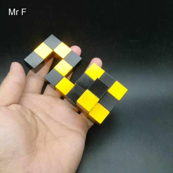 Gioco di rompicapo di rompicapo di metallo di alluminio impegnativo per il giocattolo adulto del cubo