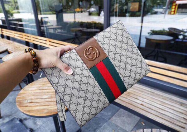 High quality luxury Black Purses Mens Clutch Bag Casual Handbag Leather Men Wallet Simple Man Clutch Purse Brand Big Capacity Men Wallets