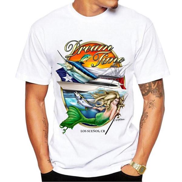 Komik Doğum Günü Hediyeleri Günümüze baba Him Baba Fishinger Tişörtlü Deniz Ton Balığı Baskılı T Shirt Erkekler Balıkçı Streetwear