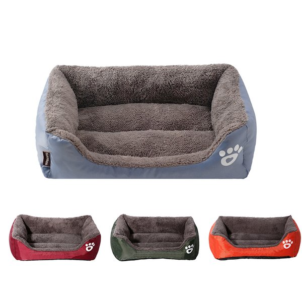Pet Dog Bed Warming Dog House Soft Material Nest Dog Baskets Fall and Winter Warm Kennel For Cat Puppy