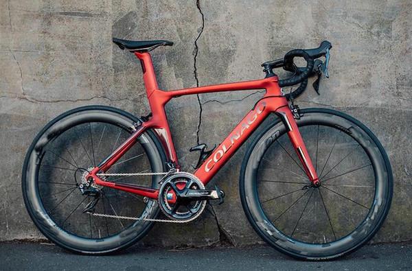 Coppia ruote NJRD Colnago Concept Carbon Matte complete bici 50MM r7010 DIRECT MOUNT colnago sella manubrio