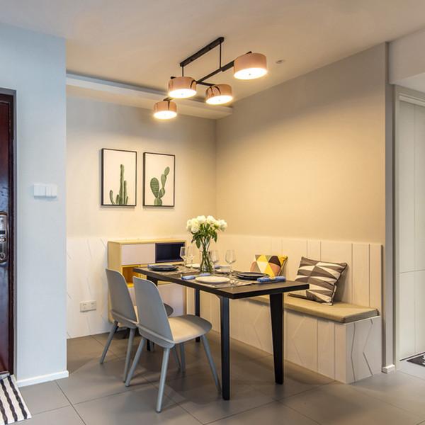 Acheter 2019postmodern 90 Degre Rotation Led Restaurant Lustre 4 Tetes Interieur Eclairage Decoratif Pour Table A Manger Salle A Manger Led Lampe De