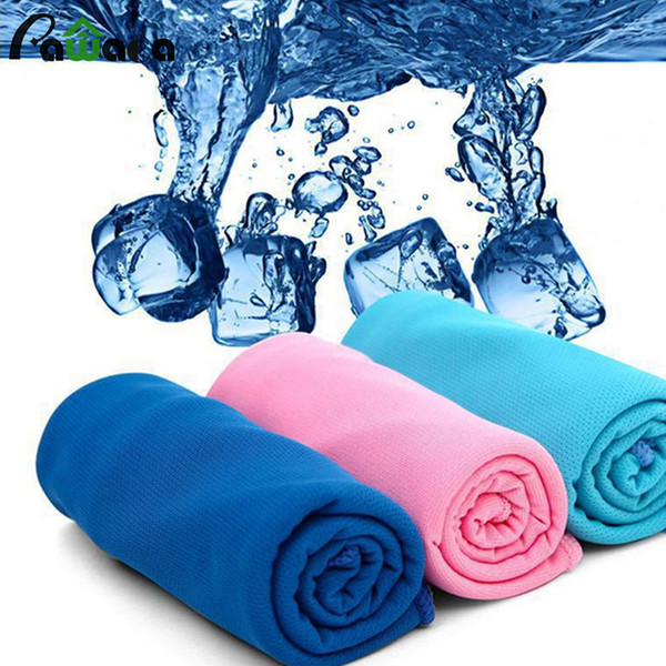 100pcs New Arrival Magic Ice Towel cooling towel Multifunctional Cooling Summer Cold Sports Towels Cool scarf Ice belt For Children Adult