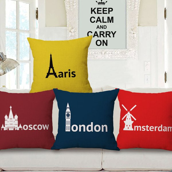 Sensational Paris London Moscow Amsterdam Cushion Covers 4 Styles Solid Color Place Name Beige Linen Pillow Covers Sofa Chair Decor Outside Furniture Cushions Unemploymentrelief Wooden Chair Designs For Living Room Unemploymentrelieforg