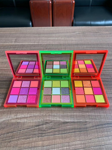 2019 eye cosmetics neon obsessions eyeshadow palette 9 color orange/pink/green matte&shimmer eye shadow pigmented palettes dhl