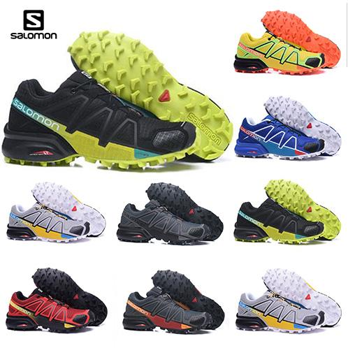 2019 2019 Solamon Speed Cross 3 CS III Running Shoes Mens Shoe Cross Country Black Silver Outdoor Sport Shoes Camping Hiking Shoes Size 40 47 From