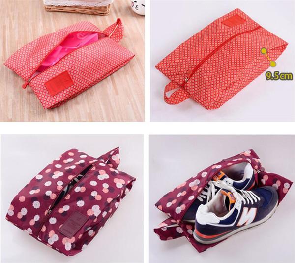 Portable Waterproof Travel Shoe Bag Nylon Storage Bag Pouch Convenient Storage Organizer Shoes Sorting Zipper Tote Wash Dust Bags A4805