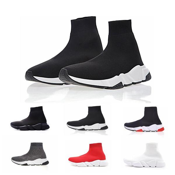 2019 New Paris Speed Runner Knit Sock Shoe Original Luxury Trainer Runner Sneakers Race Mens Women Sports Shoe size 36-45