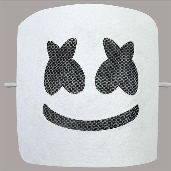 DJ Marshmallow Band Marshmello Maske Lächelndes Gesicht Weiße Farbe Lustige Party Masken Fashion Festival Kostüm Zubehör 6 9ts E1