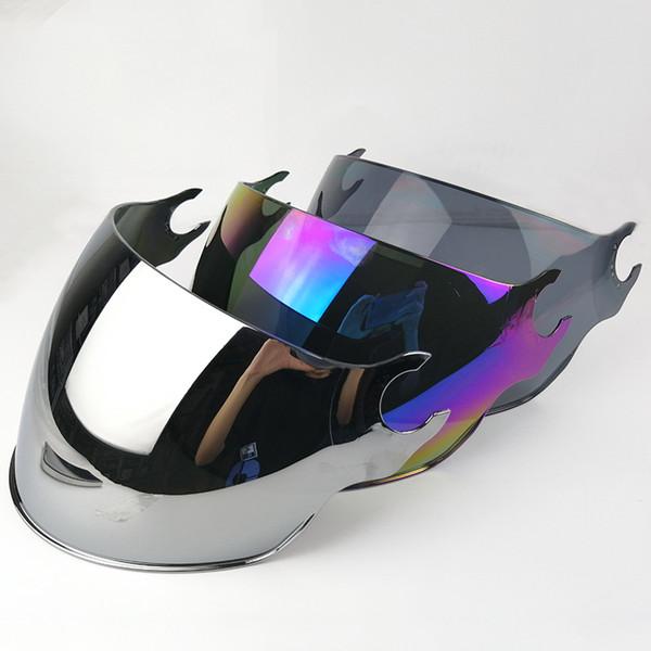 LS2 OF562 Airflow casco lente extra plata colorido negro exterior visor reemplazo protector facial lente para LS2 OF562 medio casco