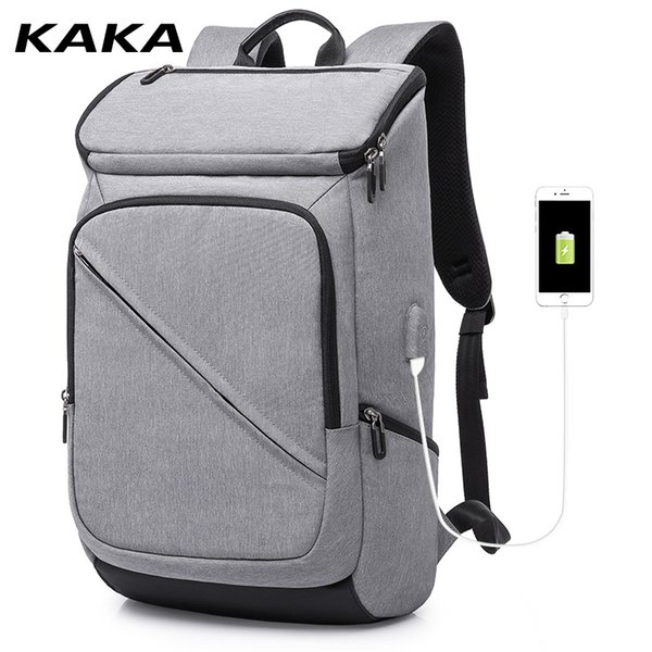 KAKA men fashion USB charging notebook laptop backpack travel pack sports bag pack notebook laptop Waterproof backpack for male
