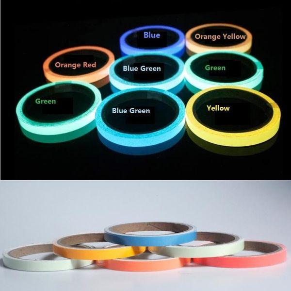 top popular 3CM*5M Luminous Tape Self-adhesive Warning Tape PET Glowing Film 2021
