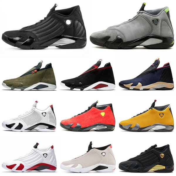 2020 DOERNBECHER 14 14s men basketball shoes Z Light Graphite Desert Dand Black Toe Candy Cane Last Shot mens trainers Sports Sneakers 7-13