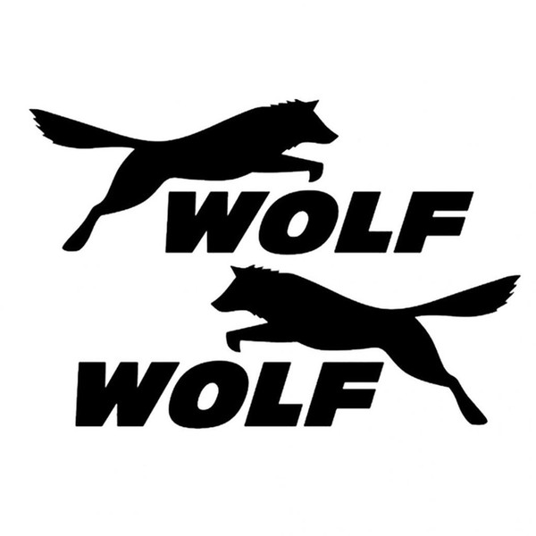 A pair of cool wolf letter self-adhesive reflective car sticker vehicle decal CA-450