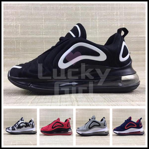 Nike Air Max 720 Nouveaux enfants chaussures de designer fille garçon bébé parent enfants noir rouge blanc bleu 27C baskets baskets chaussures de plein air EUR28-35