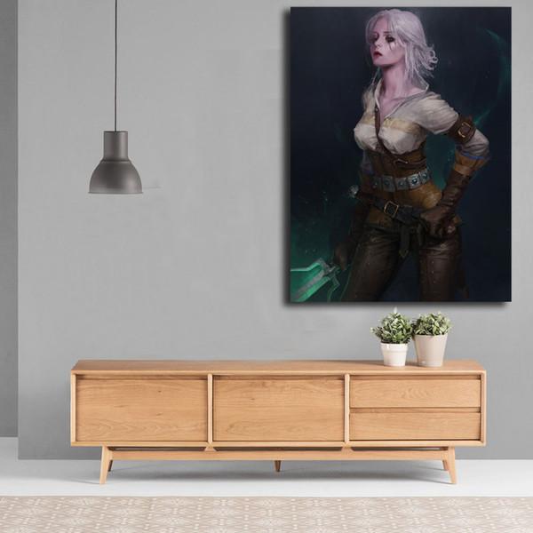 Le Sorcier 3 Chasse Sauvage Guerriers Cirilla Mur Art Toile Affiche Toile Peinture Image Décorative Pour La Vie Moderne Bureau Salle Home Decor