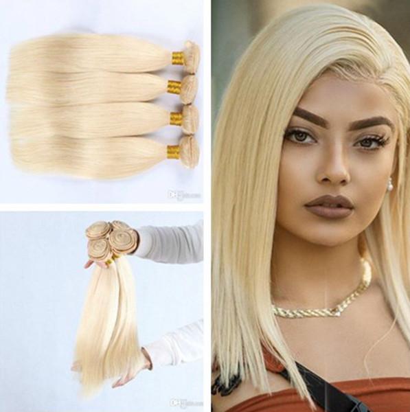 Cabelo humano brasileiro do Virgin do estilo do Weave brasileiro louro do cabelo da cor de Remy 4 pacotes com categoria 8A