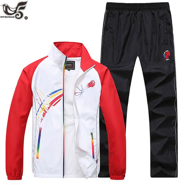 XIYOUNIAO Mens Track suits spring autumn men`s Sportswear printed Tracksuits New Brand sporting suit outwear clothing size L~5XL