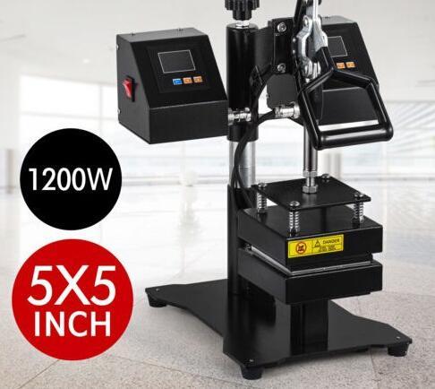 Rosin Heat Press Machine Rosin Press Machine PURE ELECTRIC Auto Dual Heat Plates with LCD Panel CK-3815-1 12*12cm