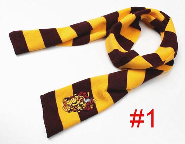 2020 Yeni Moda 4 Renkler Koleji Eşarp Harry Potter Gryffindor Serisi Eşarp ile Rozet Cosplay Örgü Atkılar Cadılar Bayramı Kostüm Kadın Adam
