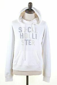 Funny Womens Hoodie Jumper Size 10 Small White Cotton Loose Fit FF07