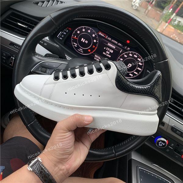 2019 Mode Luxe Classique Casual Chaussures Casual Plate-Forme En Cuir Formateur Hommes Femmes Marine Peau De Serpent 3M Sneakers Velours Chaussures Glitter Avec Boîte