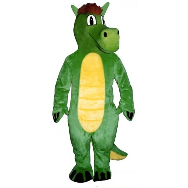 Custom Green dragon like a horse mascot costume Character Costume Adult Size free shipping