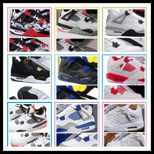 2019 Bred OG 4 Lightning Pale Citron Hot Peach 4s men Basketball Shoes Pizzeria Singles Day Black cat Mens Designer trainers Sports Sneakers